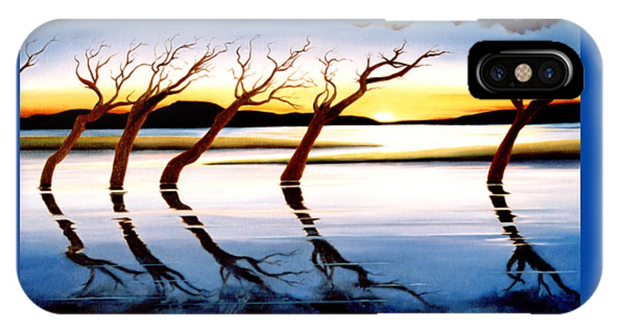 Seascape IPhone Case featuring the painting Winter Heatwave by Mark Cawood
