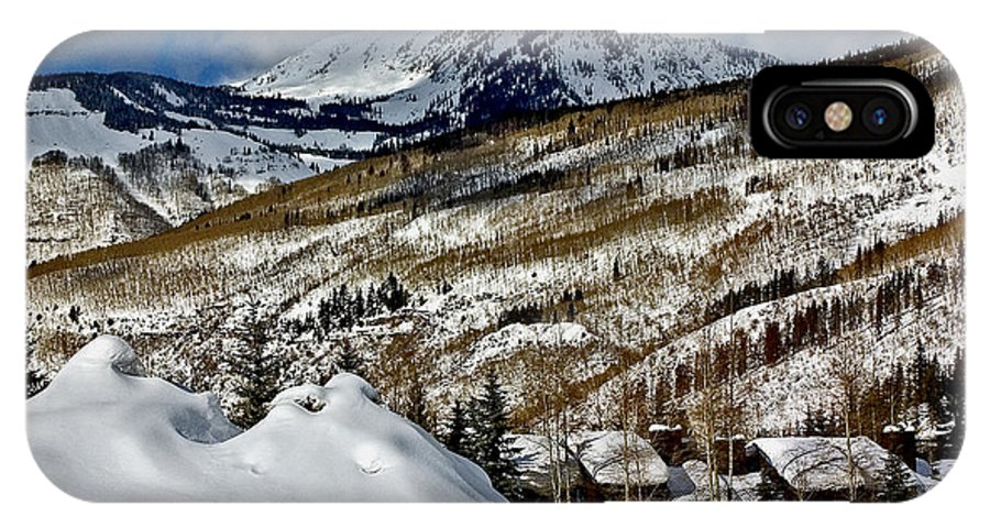 Winter Landscape IPhone X / XS Case featuring the photograph Winter In East Vail by David Salter