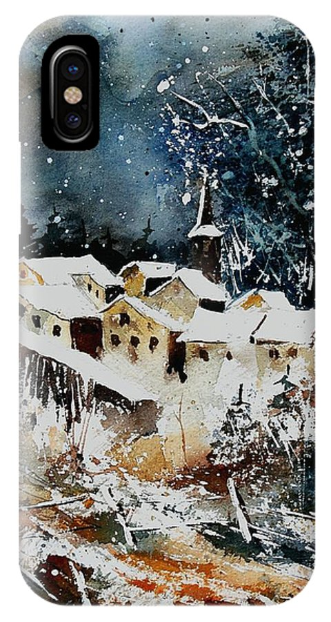 Winter IPhone Case featuring the painting Winter In Vivy by Pol Ledent