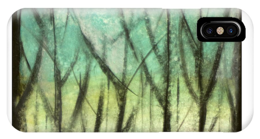 Trees IPhone X Case featuring the painting Winter Into Spring by Tim Nyberg