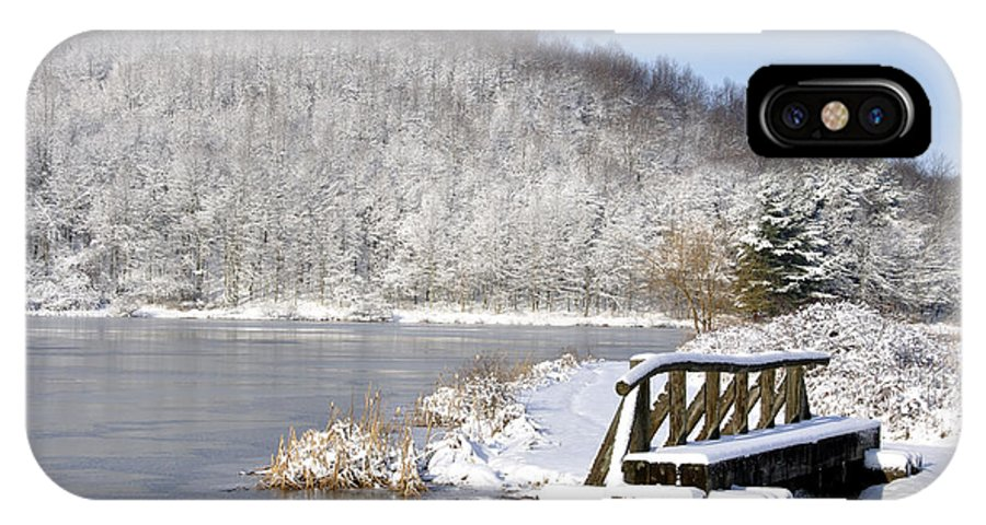 Big Ditch Lake IPhone X Case featuring the photograph Winter Lake by Thomas R Fletcher