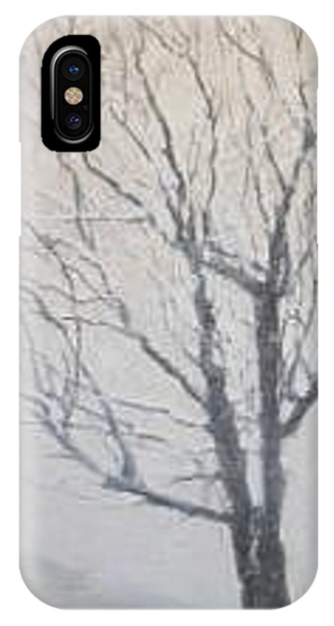 Tree IPhone X / XS Case featuring the painting Winter by Leah Tomaino