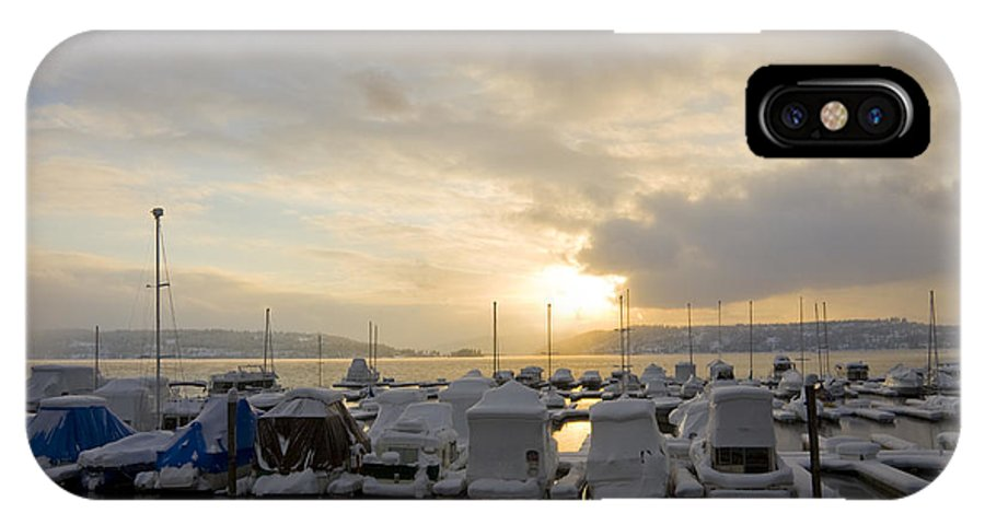 Boats IPhone Case featuring the photograph Winter Marina by Idaho Scenic Images Linda Lantzy