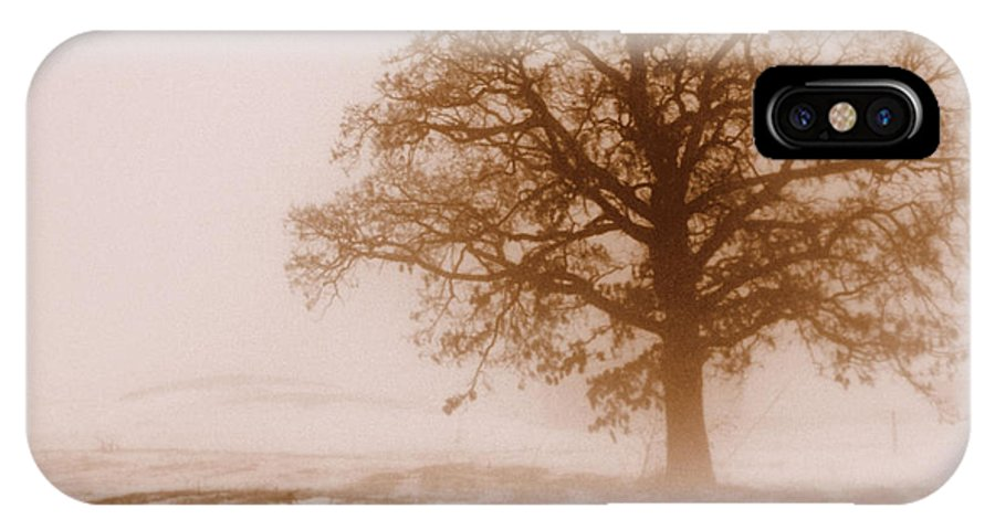 Fog IPhone X Case featuring the photograph Winter Mist by Linda Mishler