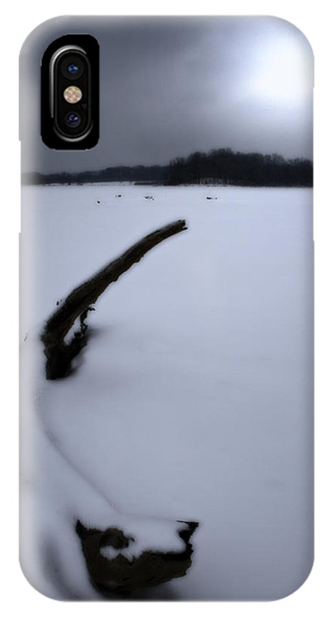 Winter IPhone X Case featuring the photograph Winter Moonrise by Kenneth Krolikowski