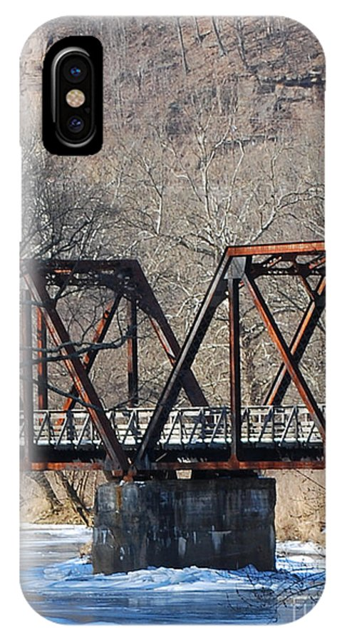 Trestle IPhone X Case featuring the photograph Winter On Knapps Creek by Randy Bodkins
