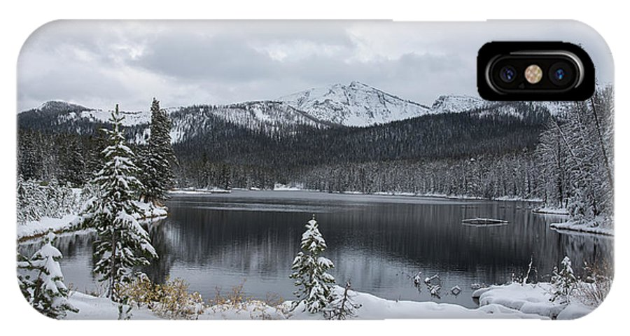 Sylvan Lake IPhone X Case featuring the photograph Winter Paradise by Connie Troutman