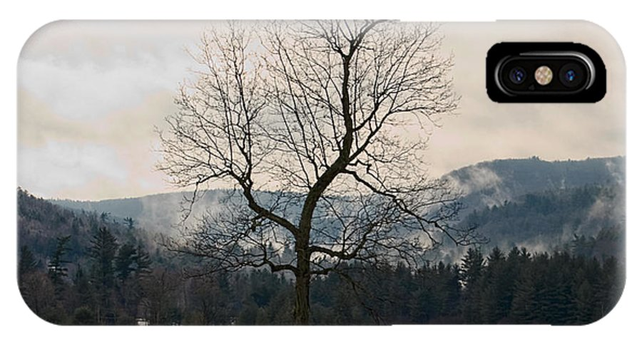 Landscape. Trees IPhone X Case featuring the photograph Winter Plains by Tom Heeter