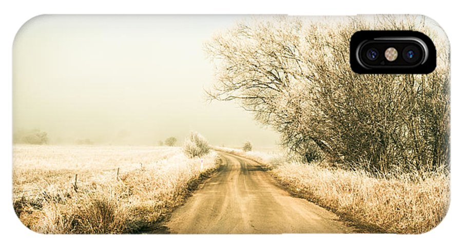 Winter IPhone X Case featuring the photograph Winter Road Wonderland by Jorgo Photography - Wall Art Gallery