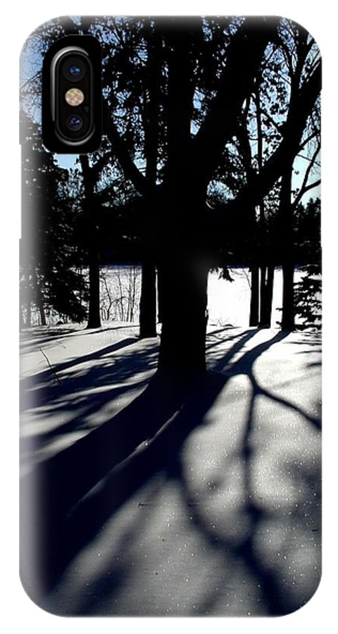 Landscape IPhone Case featuring the photograph Winter Shadows 2 by Tom Reynen