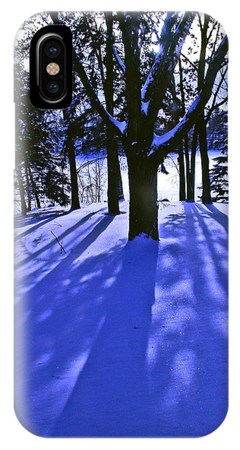 Landscape IPhone X Case featuring the photograph Winter Shadows by Tom Reynen