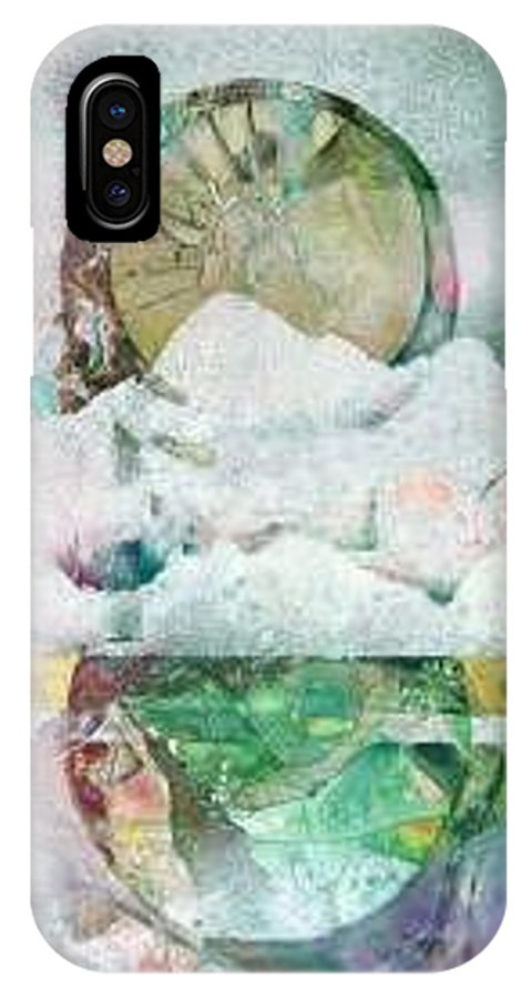 Abstract IPhone X Case featuring the painting Winter Solstice by Marlene Gremillion