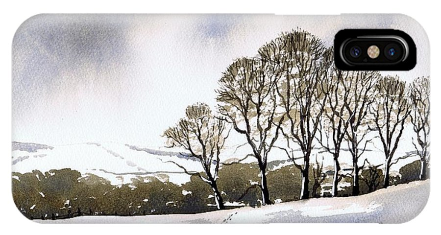 Winter IPhone X Case featuring the painting Winter Sowood by Paul Dene Marlor