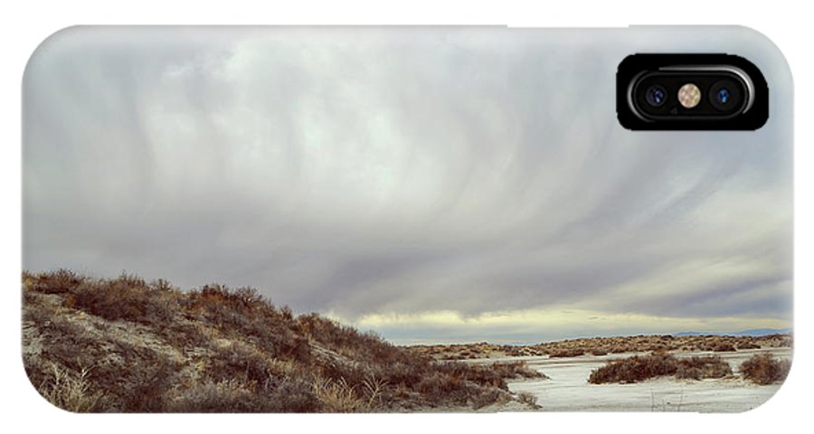 Landscapes IPhone X Case featuring the photograph Winter Storm Clouds 2018-2289 by Karen W Meyer