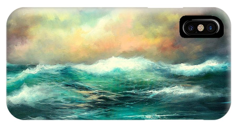 Ocean IPhone Case featuring the painting Winter Storm by Sally Seago