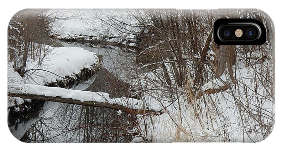 Snow IPhone X Case featuring the photograph Winter Stream by Betty-Anne McDonald