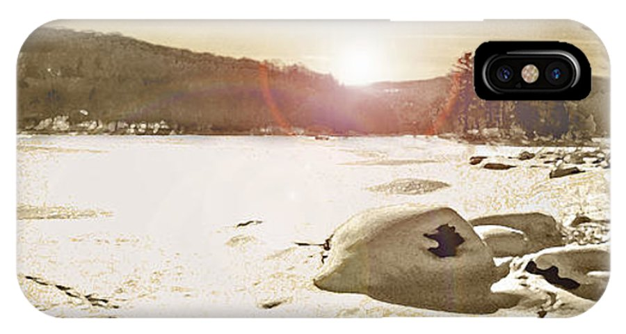 Landscape IPhone X Case featuring the photograph Winter Sun by Steve Karol