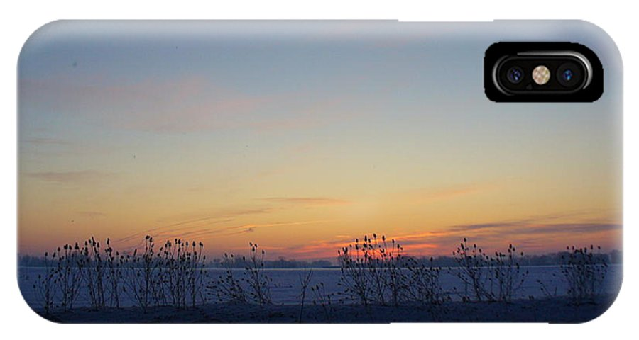 Sunrise IPhone X Case featuring the photograph Winter Sunrise In Lambton County by Peggy King