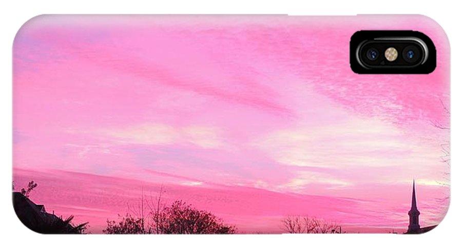 Sunrise IPhone X Case featuring the photograph Winter Sunrise by Sarah Avignone