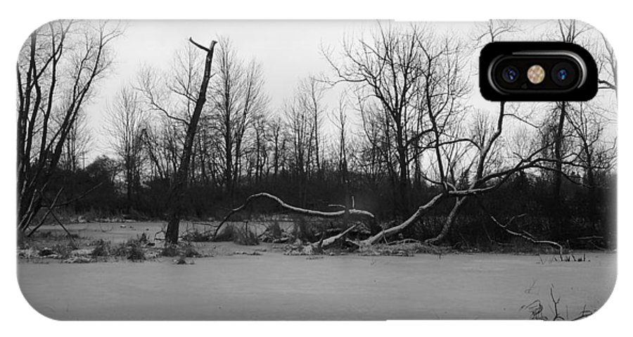 Swamp IPhone X / XS Case featuring the photograph Winter Swamp by Michelle Miron-Rebbe