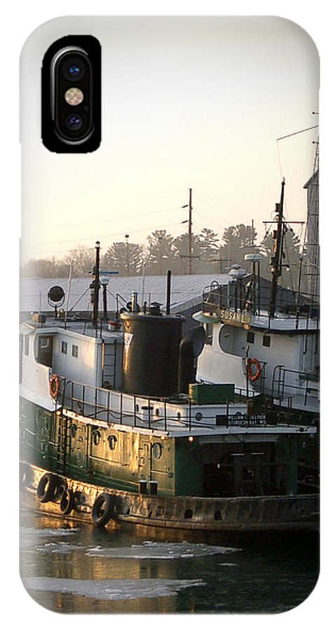 Tugs IPhone Case featuring the photograph Winter Tugs by Tim Nyberg