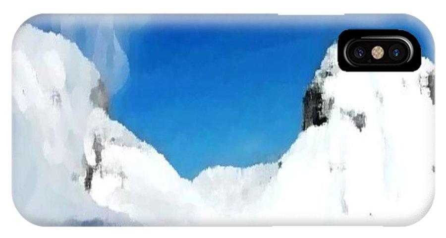 Landacape IPhone Case featuring the digital art Winter Wind by Dr Loifer Vladimir