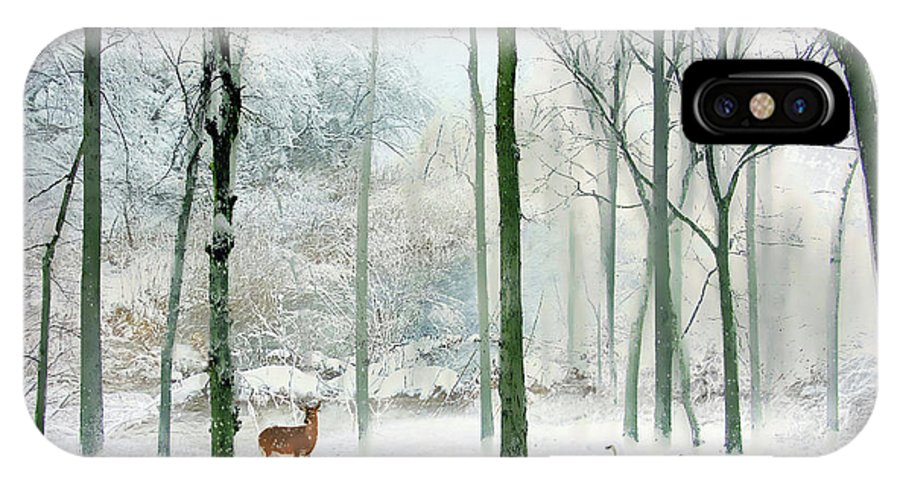 Winter IPhone X Case featuring the photograph Winter Woodland by Jessica Jenney