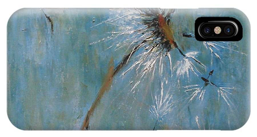 Landscape IPhone X Case featuring the painting Wishes by Barbara Andolsek