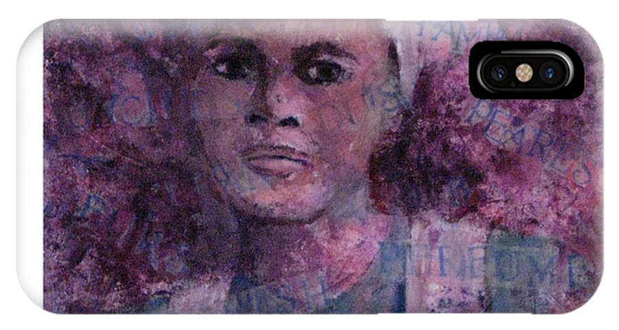 Woman IPhone X Case featuring the mixed media Wishful Thinking by Connie Freid
