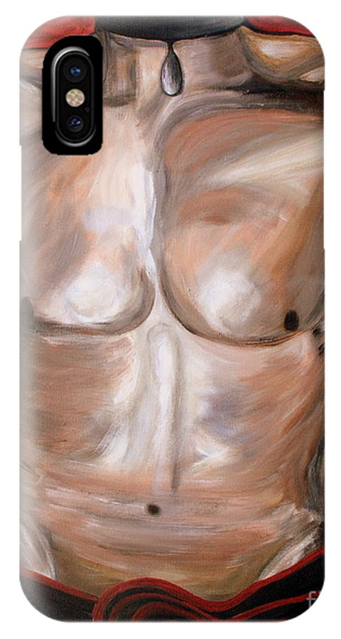 Body IPhone X Case featuring the painting Wishful Thinking.. by Jolanta Anna Karolska