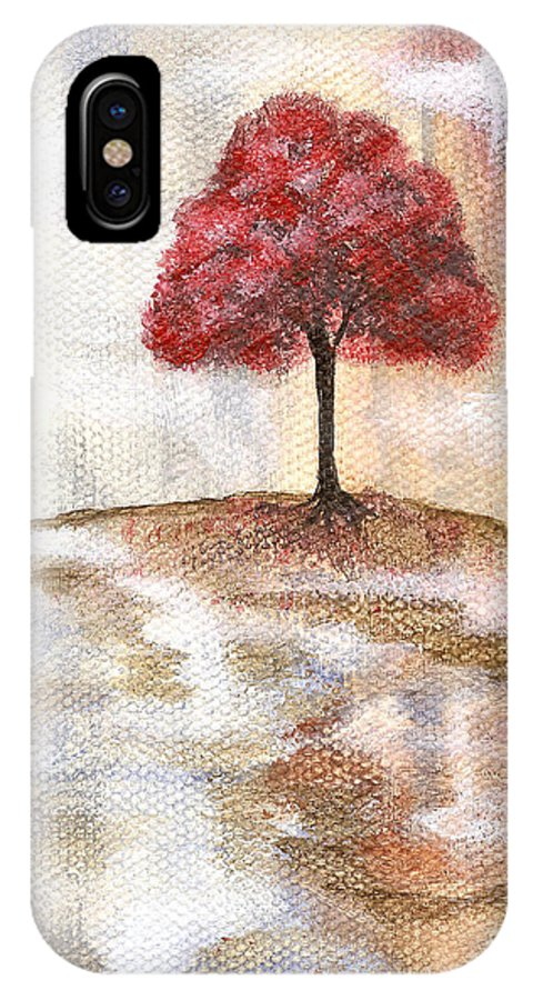 Abstract IPhone X Case featuring the painting Wishing Tree by Itaya Lightbourne