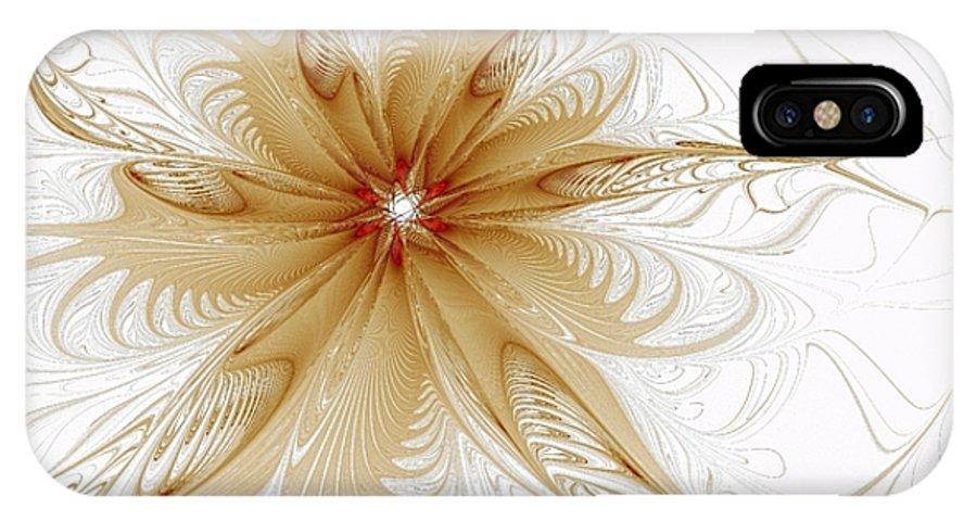 Digital Art IPhone X Case featuring the digital art Wispy by Amanda Moore