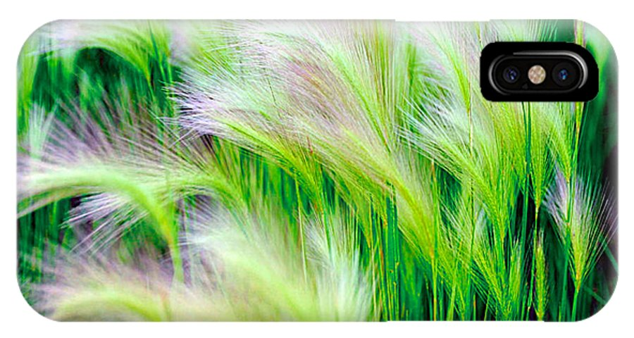 Green IPhone X Case featuring the photograph Wispy Green by Richard Gehlbach