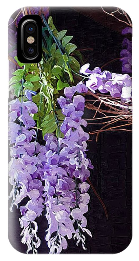 Flowers IPhone X Case featuring the photograph Wisteria by Donna Bentley