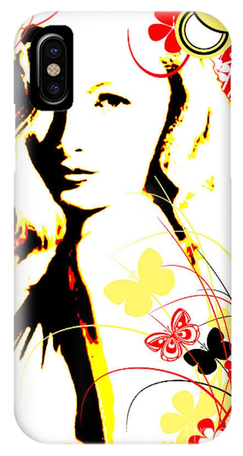 Nostalgic Seduction IPhone X Case featuring the digital art Wistful Flutter by Chris Andruskiewicz