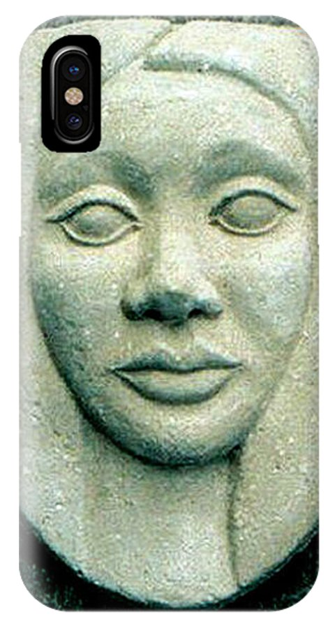 Relief IPhone Case featuring the relief Without Veils by Madalena Lobao-Tello