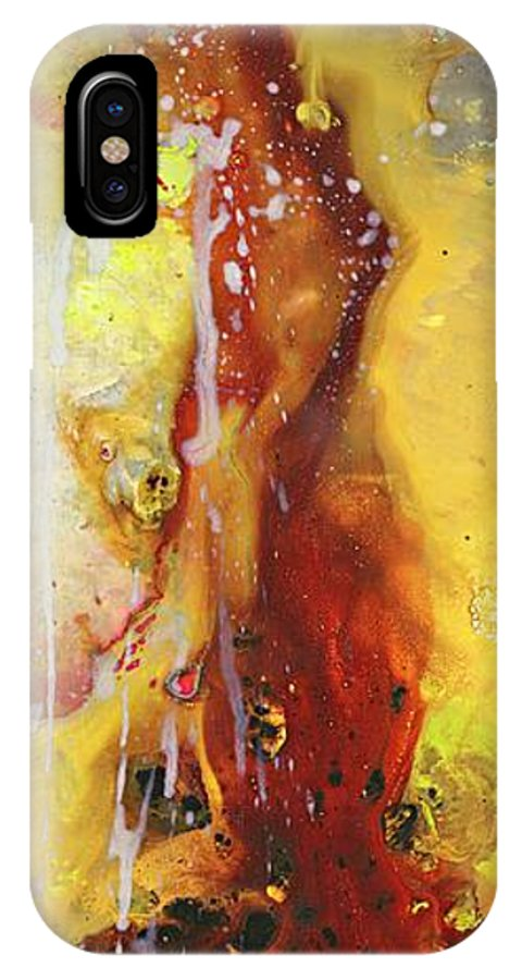 Abstract Painting. IPhone X Case featuring the painting Wizardly by Kasha Ritter