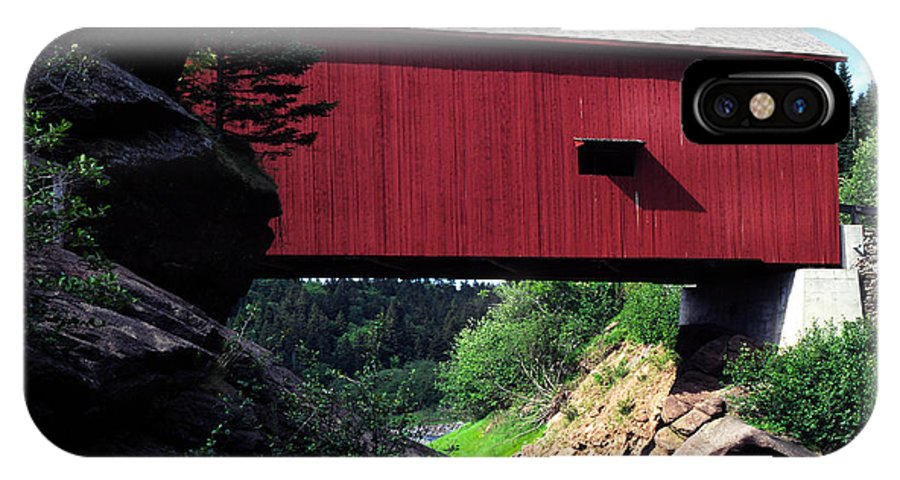 Covered Bridge IPhone X Case featuring the photograph Wolfe River by Thomas R Fletcher