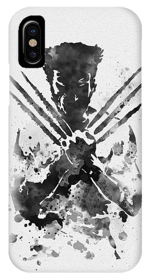 Wolverine IPhone X Case featuring the mixed media Wolverine by My Inspiration