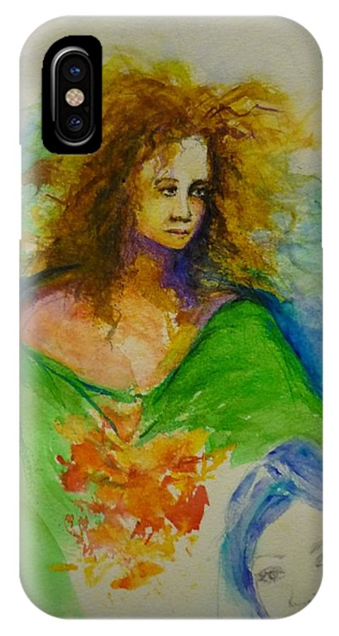 Spiritual Art IPhone X Case featuring the painting Woman 1 by Lizzy Forrester