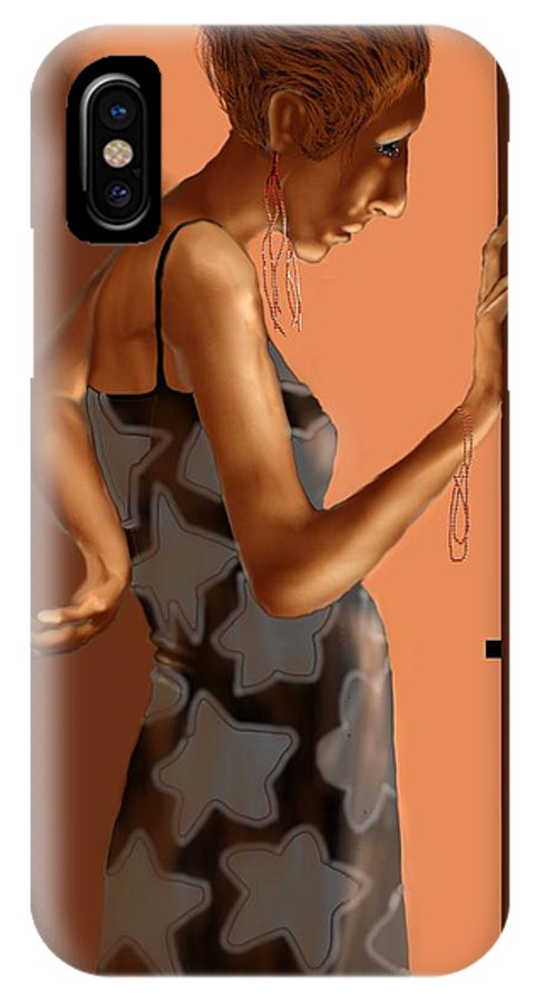 Woman IPhone X Case featuring the digital art Woman 37 by Kerry Beverly