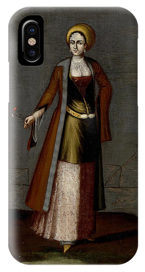 Jean Baptiste IPhone X Case featuring the painting Woman From Tinos by Jean Baptiste van Mour