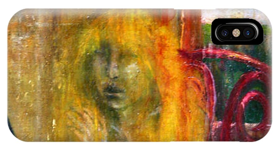 Imagination IPhone X Case featuring the painting Woman Near Window by Wojtek Kowalski