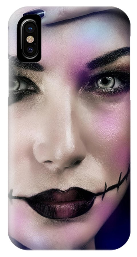 Halloween IPhone X Case featuring the photograph Woman On Halloween Party by Anna Om