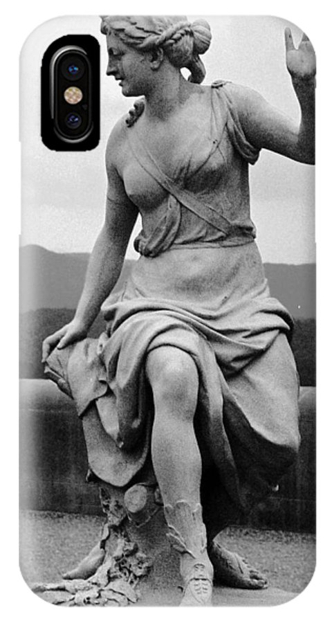 Figurative IPhone X Case featuring the photograph Woman Sculpture Nc by Eric Schiabor