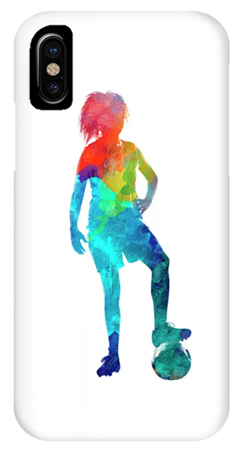 sneakers for cheap 73f3c b1aec Woman Soccer Player 10 In Watercolor IPhone X Case