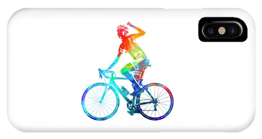 uk availability d88c3 2f85f Woman Triathlon Cycling 03 IPhone X Case