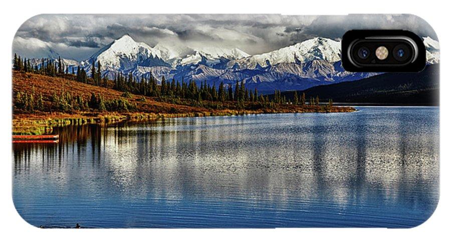 Denali IPhone X Case featuring the photograph Wonder Lake IIi by Rick Berk