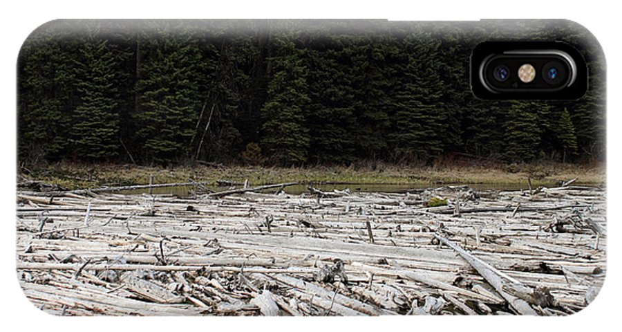 Duffy IPhone X Case featuring the photograph Wood Forest At Duffy Lake by Pierre Leclerc Photography