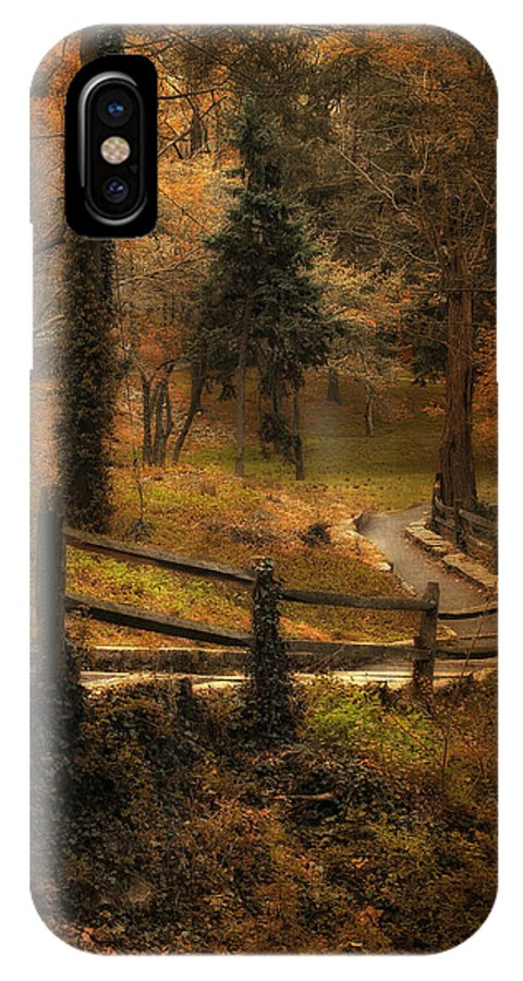 Woods IPhone X Case featuring the photograph Wooded Path by Jessica Jenney